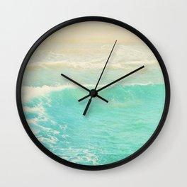 Beach wave photograph. Surge Wall Clock