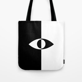Eye - in a black has a white And in a white has a black Tote Bag