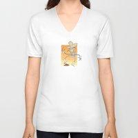 poop V-neck T-shirts featuring Cow Poop by breakfastjones