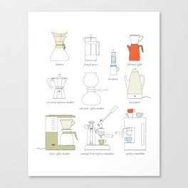 coffee makers Canvas Print