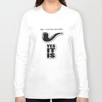 magritte Long Sleeve T-shirts featuring magritte by serbangabriel