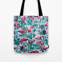Spring Summer Floral Pattern Tote Bag
