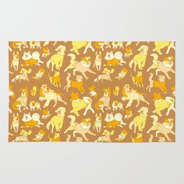 Dogs In Sweaters (Brown) Rug