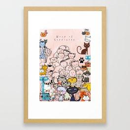 Cat love Framed Art Print
