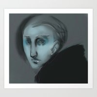 dramatic side glance Art Print