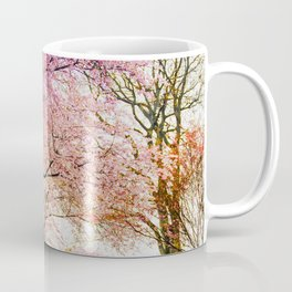 reflective cherry blossoms trees pink petals of flowers Coffee Mug