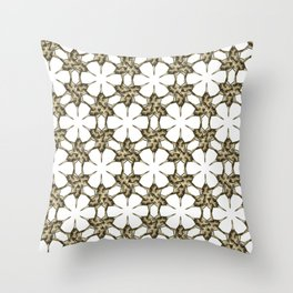 Cactus Spine Pattern - Succulent Geometric Shapes - Cactus Botanic Pattern - Sharp & Spiny Design Throw Pillow