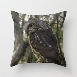 Pepsican Owl Throw Pillow