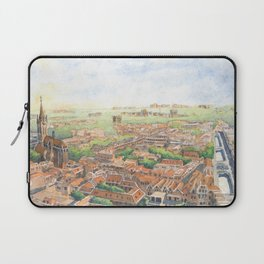 Delft aerial view in watercolor Laptop Sleeve