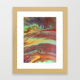 The Flow of Wood Framed Art Print