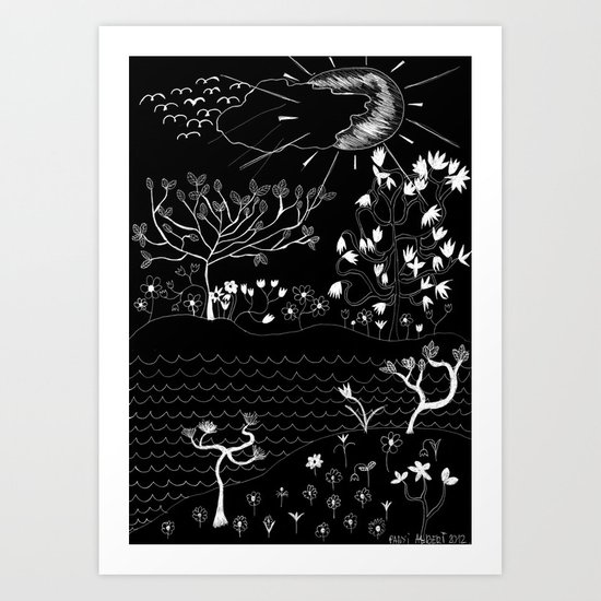 Perfect Imperfection (Inverted version) Art Print