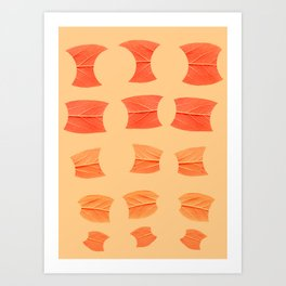 Leaf Bytes Art Print