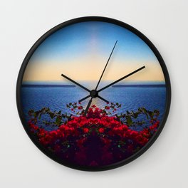 Nature in Santorini Wall Clock