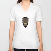 buffalo V-neck T-shirts featuring Buffalo by Alysha Dawn
