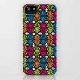 Illusion of the eyes #pattern iPhone Case