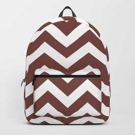 Medium Tuscan red - purple color - Zigzag Chevron Pattern Backpack