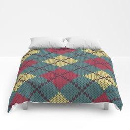 Faux Retro Argyle Knit Comforters
