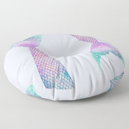 mermaid tail (purple & green) Floor Pillow