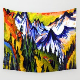 Ernst Ludwig Kirchner Mountain Top Wall Tapestry