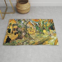 Road Works at Saint-Remy by Vincent van Gogh Rug
