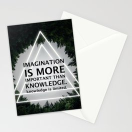 Imagination Is More Important Than Knowledge - Albert Einstein Stationery Cards