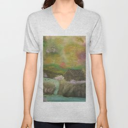 Deep Forest Cabin Unisex V-Neck