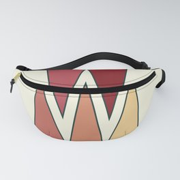Mid Century Modern Hot Desert Red Yellow Triangles Fanny Pack