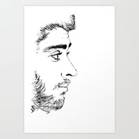 zayn Art Prints featuring ZAYN by Naty Amity