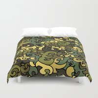 military Duvet Covers featuring Military pattern. by Julia Badeeva