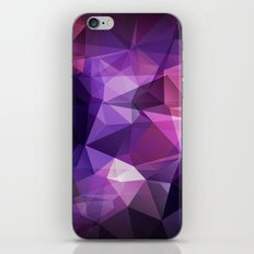 Abstract background of triangles polygon design bright colors iPhone & iPod Skin
