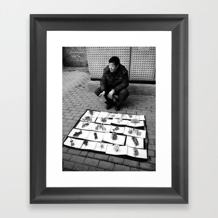 Beijing street vendor Framed Art Print