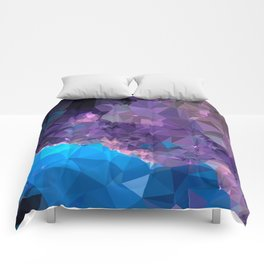 Geometric Galaxy Low Poly 1 Comforters