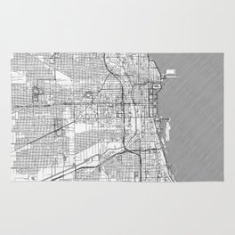 Chicago Map Line Rug
