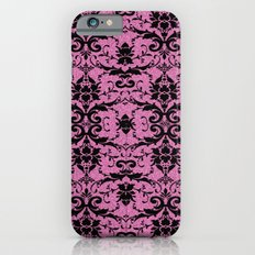 Black Damask and Pink Glitters iPhone 6s Slim Case
