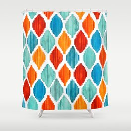 Bright colors tribal ikat pattern Shower Curtain