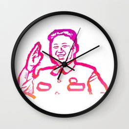 Abstract Kim Jong Un Wall Clock