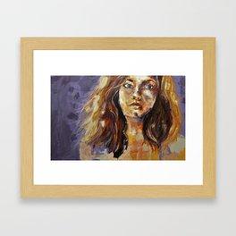 Expressive Portrait Framed Art Print