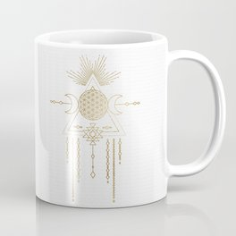 Golden Goddess Mandala Coffee Mug
