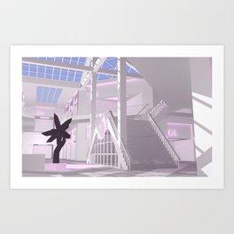 Temple / 1 / Vaporwave Mall Art Print