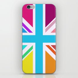 Square Based Union Jack/Flag Design Multicoloured iPhone Skin