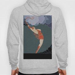 "Art Deco Illustration ""The Dancer"" Hoody"