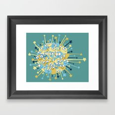 Bubbly Creatures Print Framed Art Print
