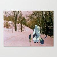 inuyasha Canvas Prints featuring Sesshomaru, Rin and Jaken (Burnsville NC) (Inuyasha) by Jackobi Austin