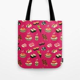 Pink Sushi Tote Bag