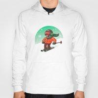 ski Hoodies featuring Ski by nicosarmiento