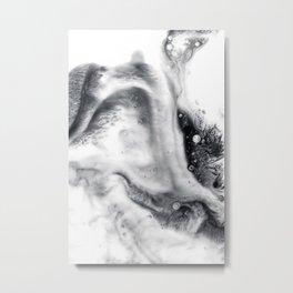Ink in Milk Black and White liquid Nr.01 Metal Print