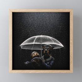 Cat & Dog Framed Mini Art Print