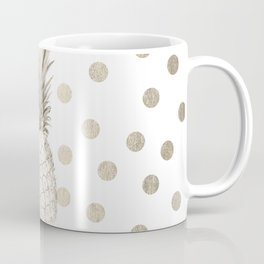 Gold Pineapple Polka Dots 1 Coffee Mug