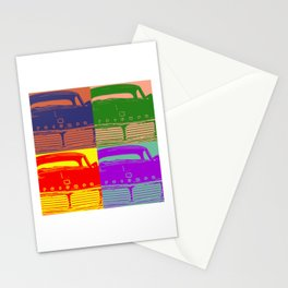 Triumph Spitfire 1960s classic British car four square pattern Stationery Cards