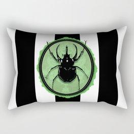 Juicy Beetle GREEN Rectangular Pillow